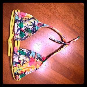 San Lorenzo Tropical Print Triangle Bikini Top